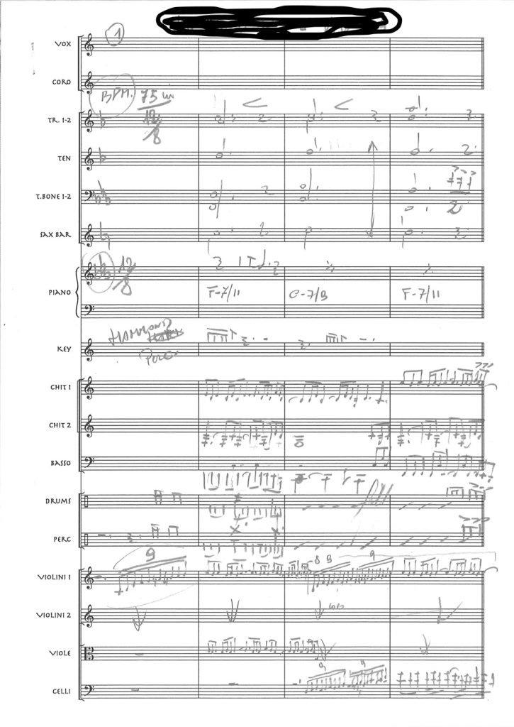 partitura manoscritta