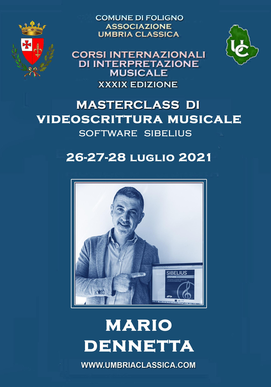 Masterclass di Videoscrittura Musicale con Sibelius - Umbria Classica