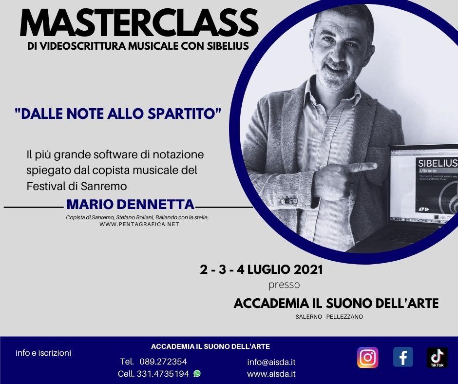 Masterclass di Videoscrittura Musicale con Sibelius - Mario Dennetta